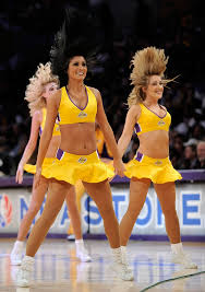 lakers girls perform during a break