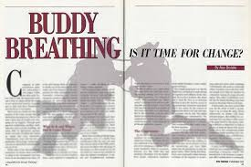 buddy breathing is it time for change scuba diving news gear