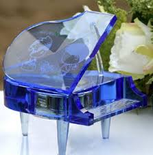 Crystal Souvenirs China Optical Purple Crystal Glass Piano For Souvenirs Gifts