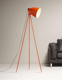nordic design orange tripod tricycle work office floor lamp