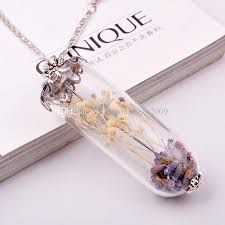 crystal necklace diy images Wholesale crystal diy pendant necklaces dry flower make a wish jpg