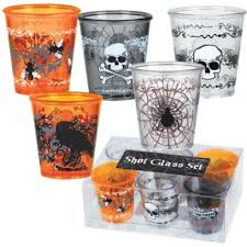 Halloween Cups Halloween Shocktales Plastic Shot Glasses Set Cups U0026 Glasses