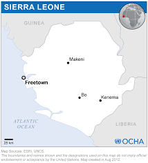 Map Of Sierra Leone Sierra Leone Location Map 2012 Sierra Leone Reliefweb