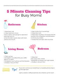 cleaning tips 5 minute cleaning tips for busy moms free printable
