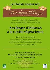 cours de cuisine vegetarienne cours de cuisine végétarienne restaurant végétarien bio deux anges