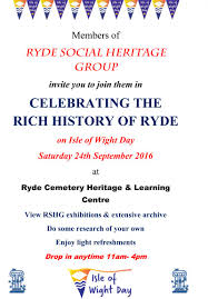 you are invited to celebrate isle of wight day rshg rshg
