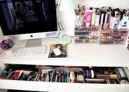 a look inside my ikea malm dressing table scolvinbeauty makeup