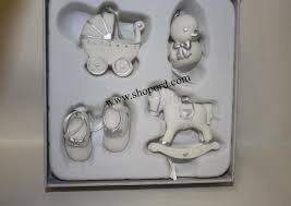 hallmark 2016 babys ornament set of 4 shoes
