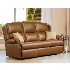 Recliner 3 Seater Sofa Sherborne Claremont Leather 3 Seater Recliner Sofa