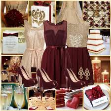 maroon and gold wedding cranberry and gold wedding by allij28 on polyvore wedding ideas