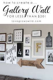 Living Room Gallery Wall Love Grows Wild - Family room photo gallery