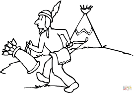 native american indian coloring page free printable coloring pages