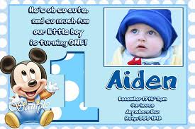 baby mickey mouse birthday invitation card u2013 orderecigsjuice info