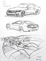 drift cars drawings car drawing 151204 2015 ford mustang prisma on paper kim j h