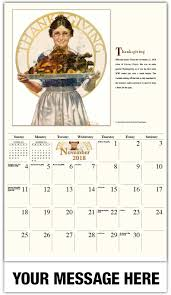 thanksgiving november 22 norman rockwell art calendar 65 promotional wall calendars