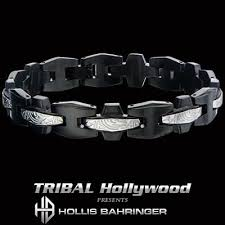 metal mens bracelet images Black metal mens bracelets tribal hollywood jpg