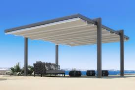 How To Build A Freestanding Patio Roof by The Forli Free Standing Pergola Cover Retractableawnings Com