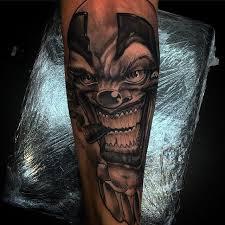 smoking gun gangsta clown tattoo design stencil tattoobite com