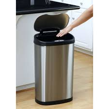 stainless steel kitchen trash cans wall mart garbage sterilite to