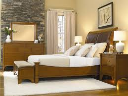 Bedroom Set With Leather Headboard Leather Headboard Sleigh Bed 6 Piece Abbott Place Bedroom Set In