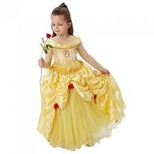 premium kids belle costume fancy dress and party
