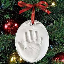 baby handprint ornament ideas babytalk bungalow