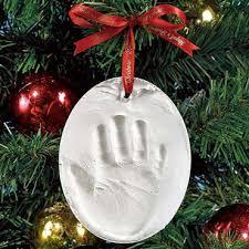 baby handprint ornament ideas babytalk bungalow