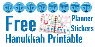 hanukkah stickers free hanukkah planner stickers more heart of wisdom homeschool