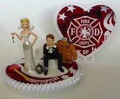 fireman wedding cake toppers wedding cake topper firefighter fireman department