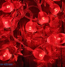 avsl halloween led battery string lights spiders bats ghosts
