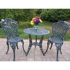 Bistro Patio Furniture Sets - amazon com oakland living tea rose cast aluminum 3 piece bistro