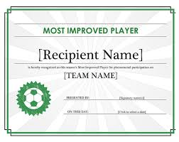 templates for award certificate printable soccer certificate template sports certificate to recognize