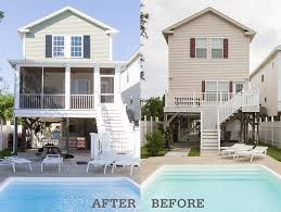 Before And After Home Exteriors by Before U0026 After Photos Of A Surfside Beach Vacation Home
