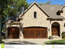 typical american house with two door garage royalty free stock