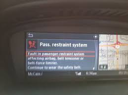 passenger restraint system failure bimmerfest bmw forums