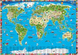 weltkarte für kinderzimmer illustrierte kinderweltkarte als poster karten für kinder geo