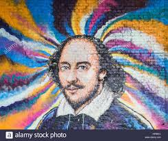 london uk 19th feb 2017 william shakespeare wall mural by william shakespeare wall mural by australian artist james cochran known as jimmy c located near the globe theatre in southwark south east london