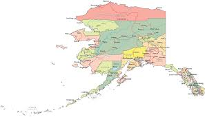 Maps Alaska by Political Map Of Alaska