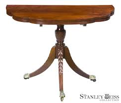 Duncan Phyfe Drop Leaf Dining Table A Classical Mahogany Triple Elliptic