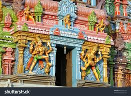 Statues Of Gods by Traditional Statues Gods Goddesses Hindu Temple Stock Photo
