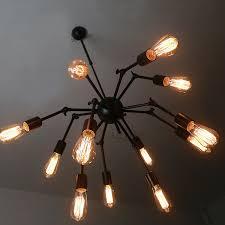 industrial pendant lighting fixtures spider shape 12 light industrial pendant light fixtures