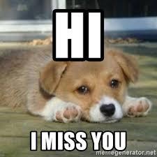 I Miss U Meme - hi i miss you meme mne vse pohuj