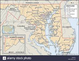 map of maryland political map of maryland stock photo royalty free image