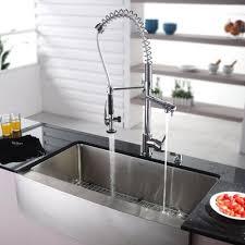 farmhouse faucet kitchen kraus 35 88 x 20 75 farmhouse kitchen sink with faucet and soap
