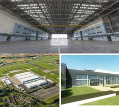 aston martin factory aston martin begins work to convert st athan super hangars into a