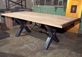 Industrial Work Table by Dining Tables Industrial Metal Table Vintage Industrial Work