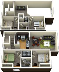Loft Style Apartment Floor Plans by 4 Bedroom 2 Bathroom Loft