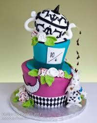 alice in wonderland topsy turvy cake party ideas wonderland