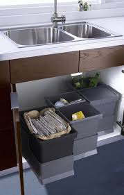 garbage can under the sink under kitchen sink organizing of trash cans that pull out