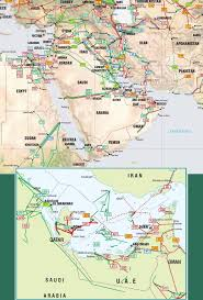 World Map Of Middle East by Middle East Pipelines Map Crude Oil Petroleum Pipelines